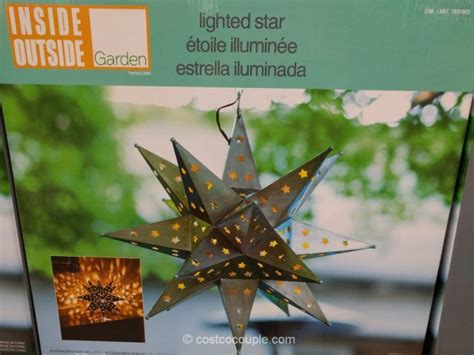 costcos lighted star 2015 outdoor led light