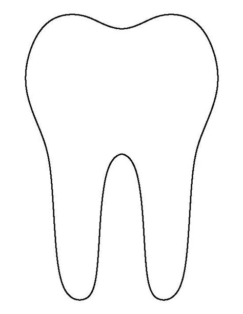 tooth template 24736 best projekty do wypr 243 bowania images on