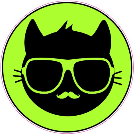 cool decals cool cat sticker u s custom stickers