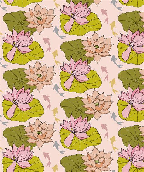 lotus koi lotus koi wallpaper design on behance
