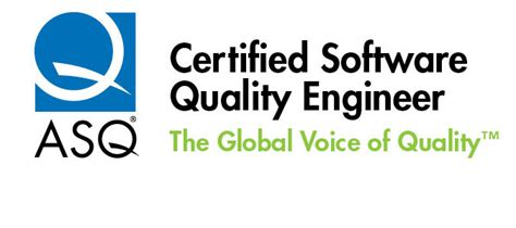 Certified Software Quality Engineer by Logos Software Quality Engineer Csqe Certification Asq