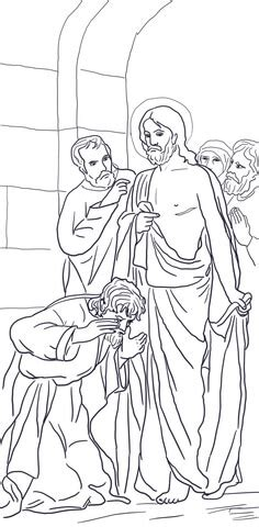 coloring page for doubting thomas doubting thomas coloring page www pixshark com images