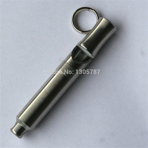 whistle sound 120 decibels titanium lifesaving whistle outdoor cing metal keychain whistle