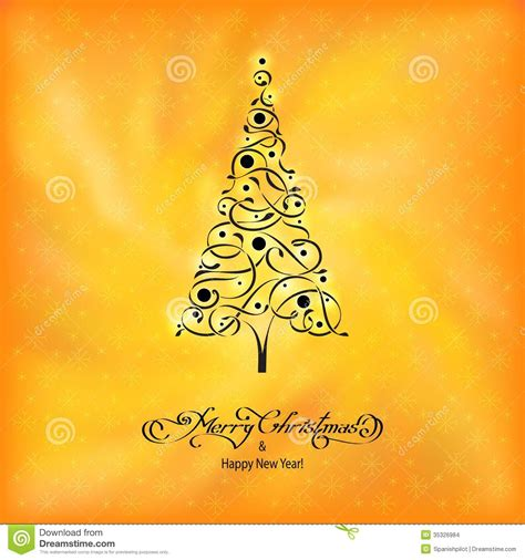 black and yellow christmas tree black ornamental tree stock photo image of creative 35326984
