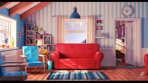living room cartoon artstation cartoon living room bondok max