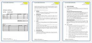 Sop Template Word by Standard Operating Procedure Sop Templates For Word