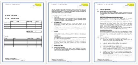 download standard operating procedure template