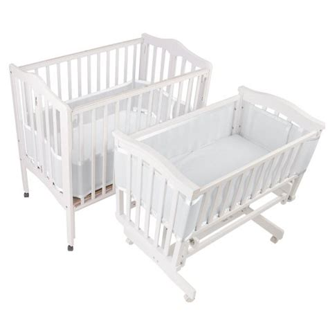 Breathablebaby Mesh Crib Liner For Portable And Cradle Crib Mattress Liner
