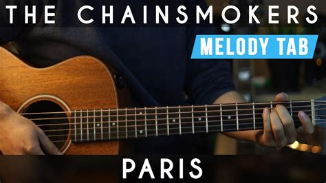 guitar tutorial cover the chainsmokers paris guitar tutorial cover chords