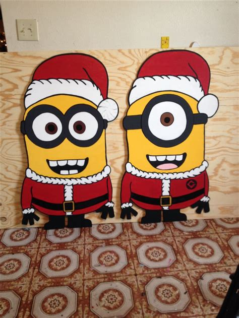 minion outdoor christmas decor wood yard patterns woodworking projects plans