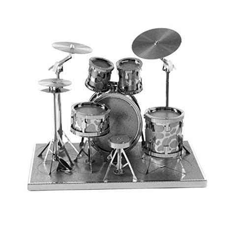 Fascinations Metal Earth Rock Band Drum Set fascinations metal earth drum set 3d metal model kit