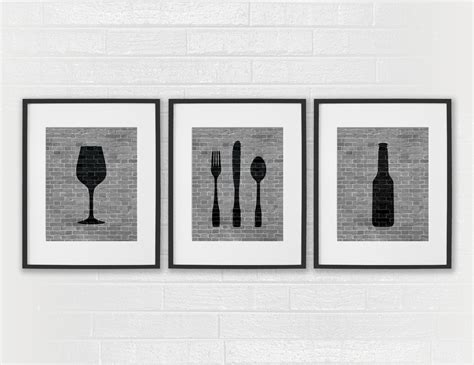 modern dining room prints black white by daphnegraphics