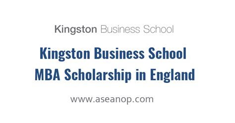 Melbourne Business School Mba Deadlines by Kingston Business School Mba Scholarship In