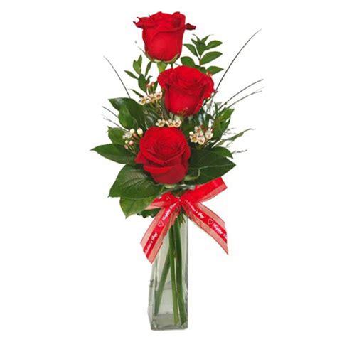 Stem Roses by Three Stem Roses Arranged In Vase Flower Patch