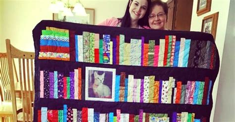 Reading Quilt by The Keepsake Bookshelf Memory Quilt The Reader