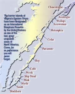 barrier islands map barrier islands of virginia s eastern shore