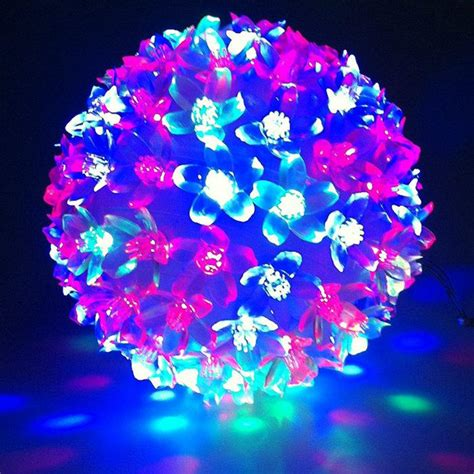 weihnachtskugeln mit licht 1pc 50 led petal light multi or clear hanging light