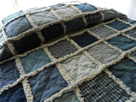 Denim Rag Quilt Pattern by Denim Rag Quilt Denim Quilt Rag Quilt Denim And Homespun