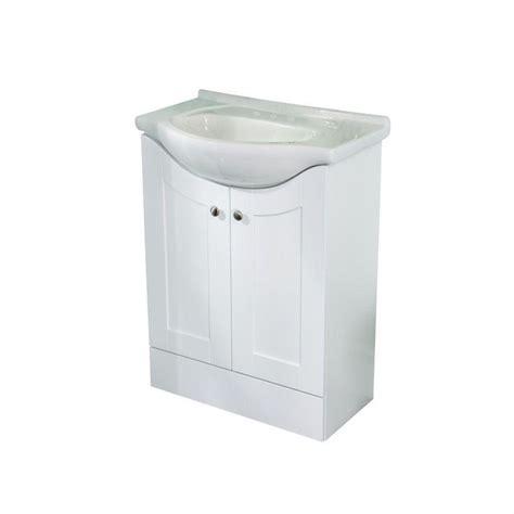 Porcelain Vanity Tops by St Paul 24 In W Vanity In White With