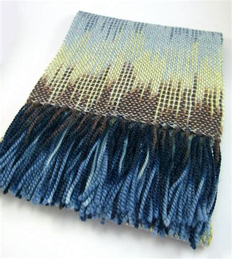 Hand Woven Pooled Scarf Rigid Heddle Loom Weaving