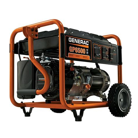 generac 6 500 watt gasoline powered portable generator