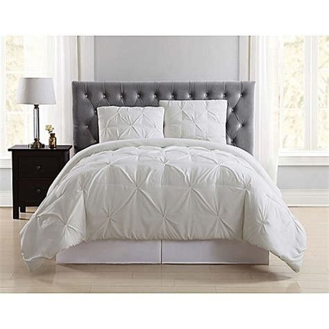 Pleated Duvet Cover Truly Soft Pleated Duvet Cover Set Bed Bath Amp Beyond