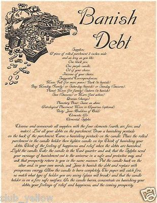Spell Hematite banish debt real witchcraft spell book of shadows page bos