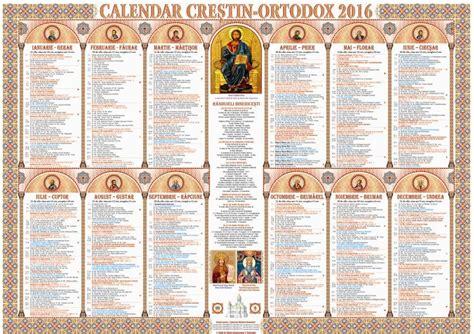 Orthodox Calendar Calendar Ortodox 2016 Ce Sfinţi Sărbătorim Azi