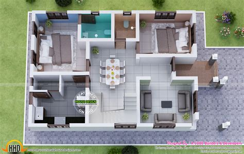 3d ground floor plan magnificent kerala home kerala home design and floor plans