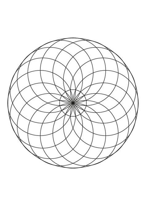 imagenes de mandalas con circulos mandala de c 237 rculos dibujo para colorear e imprimir