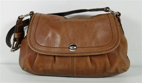 Coach Leigh Leather Flap Bag by Coach Brown Leather Soho Pleated Large Flap Bag No 13729
