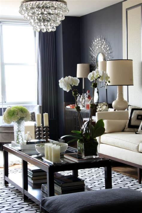 dark gray living room pretty love the dark grey walls