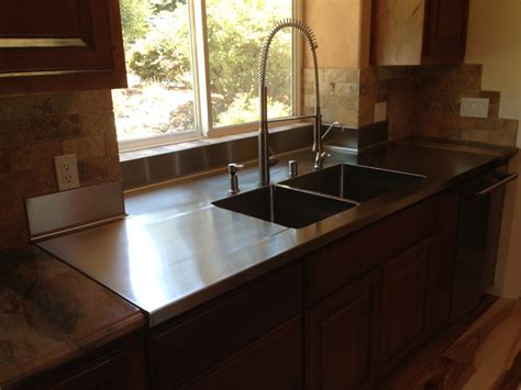 weld in stainless steel sinks with welded in double bowl concord sheet