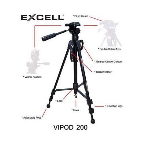 Excell Vipod 600 Tripod Hitam jual excell vipod 200 tripod harga dan spesifikasi