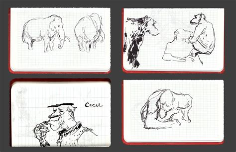 sketchbook of a zoo zoo zoo sketches