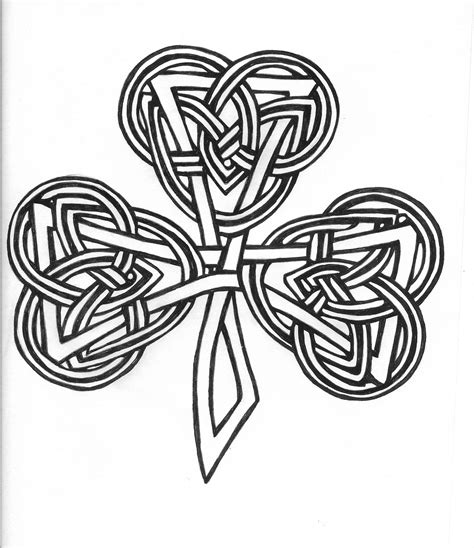 celtic knot cross tattoo clover tattoos