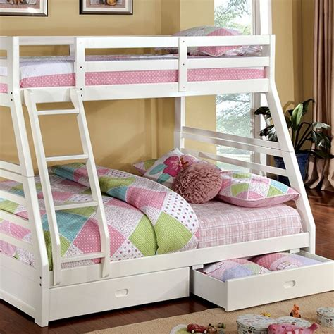 bunk bed full and twin bunk bed twin over full with two drawers art of