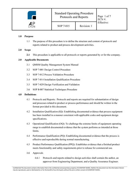 software validation protocol template validation protocols reports procedure