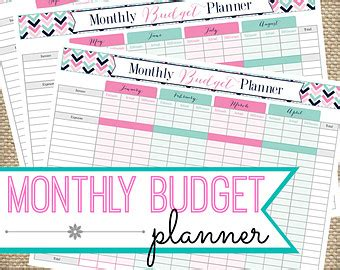 monthly budget planner organizer and weekly expense tracker monthly money management budget workbook expenses record planner journal notebook budget expense ledger log book volume 3 books monthly budget printable planner instant pdf