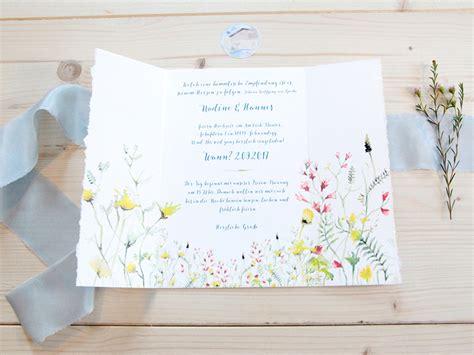 Hochzeitseinladung Natur by Hochzeitseinladung Mit Location Friedatheres