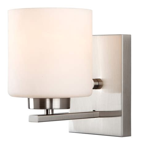 Brushed Nickel Wall Sconce Shop Canarm Leigha 4 75 In W 1 Light Brushed Nickel Arm Wall Sconce At Lowes