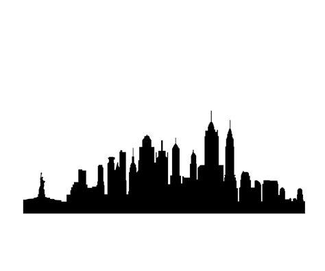 Chicago Skyline Wall Mural free clip art new york city skyline silhouette clipart best