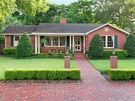 brick ranch curb appeal photo page hgtv