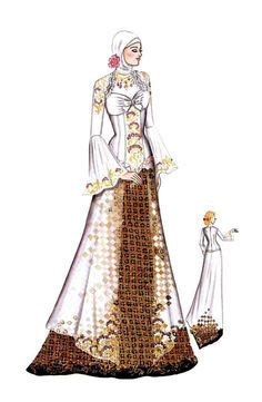 Rok Batik Rimpel busana pengantin two pieces yang terdiri atas rok model rimpel ditambah blus ringan ber peplum