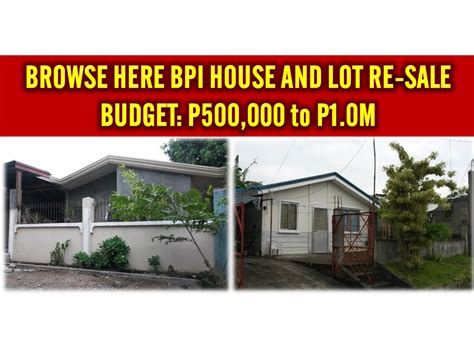 bank assets for sale bpi bank house resell of house assets for budget p500 000