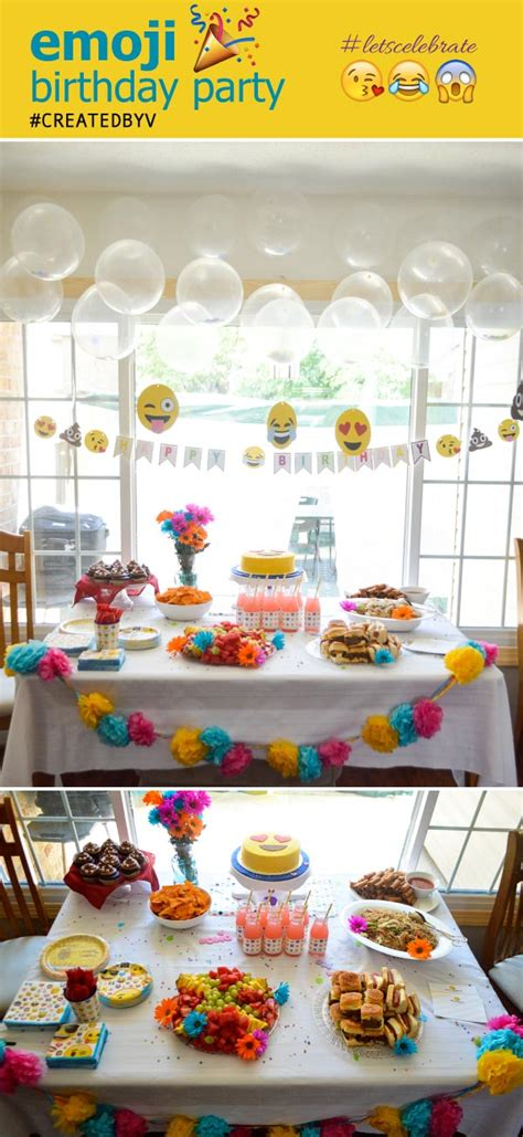 Diy Recycled Home Decor an emoji birthday party created by v