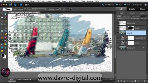 tutorial photoshop elements 14 painterly sketch effect in photoshop elements youtube