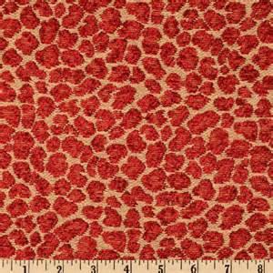 chenille jacquard spots ruby discount designer fabric