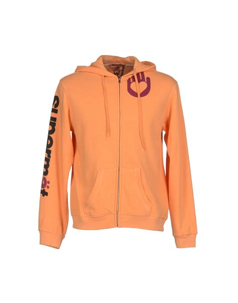 free city sweatshirt in orange for lyst