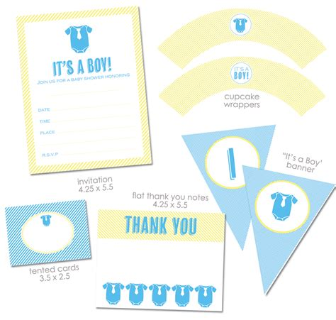 free baby boy shower free quot it s a boy quot baby shower printables from green apple